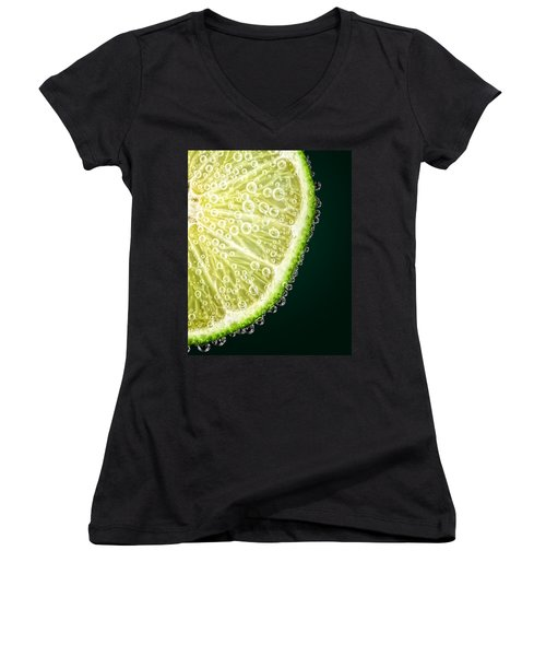 Lime Slice Women's V-Neck