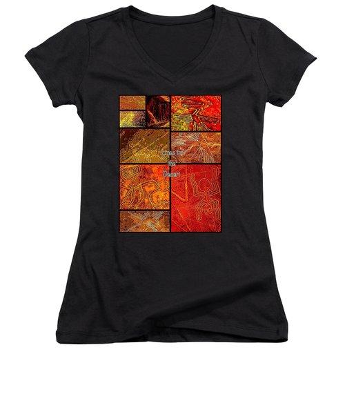 Lines In The Desert Women's V-Neck T-Shirt