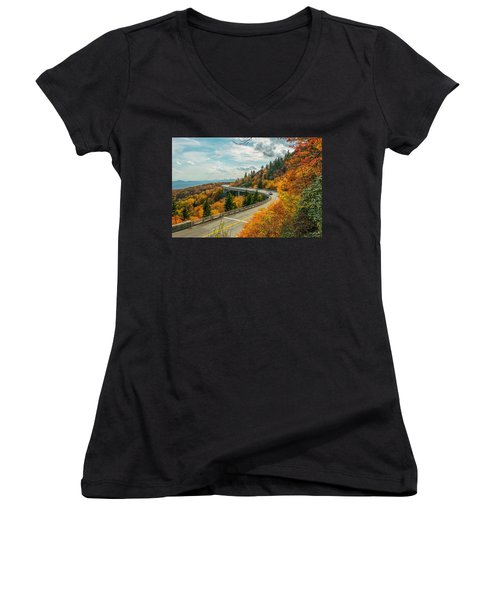 Linn Cove Viaduct Women's V-Neck