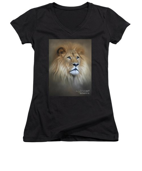 Lion Women's V-Neck T-Shirt