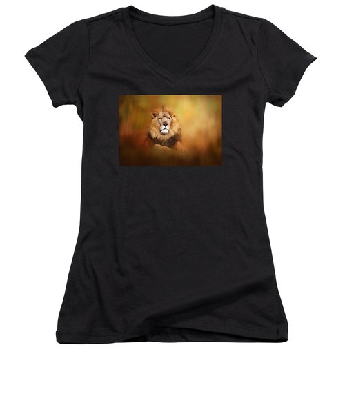 Lion - Pride Of Africa I - Tribute To Cecil Women's V-Neck (Athletic Fit)