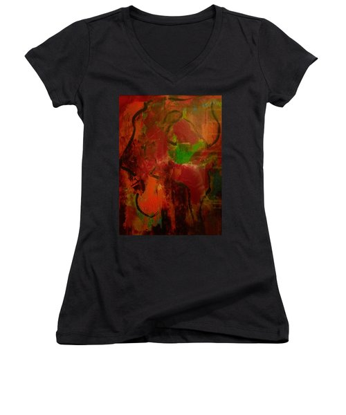 Lion Proile Women's V-Neck