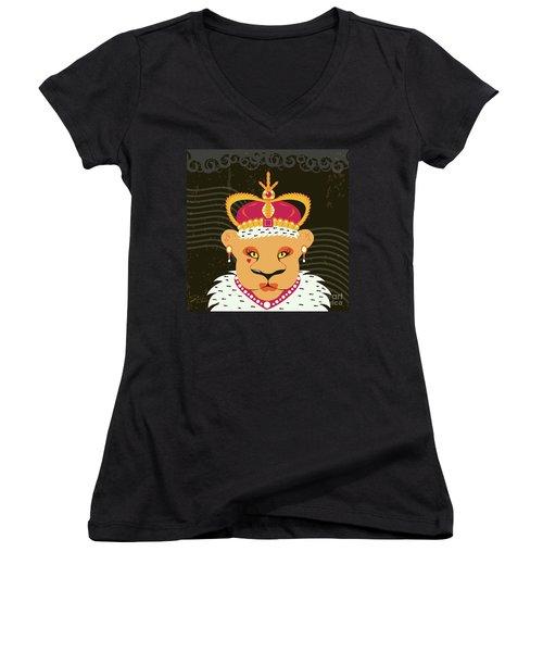 Lioness Queen Women's V-Neck