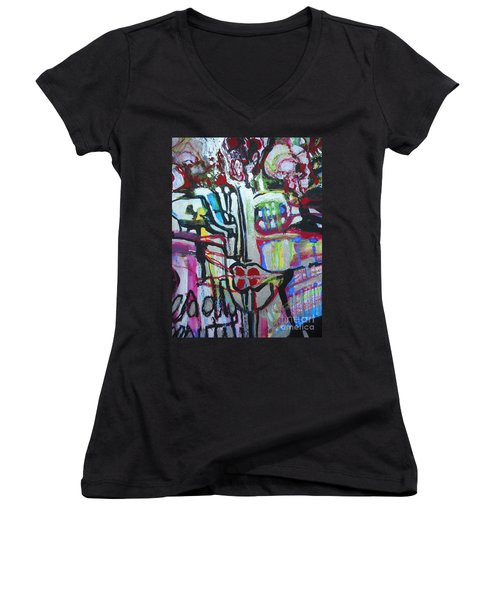Lips Made Of Steel Women's V-Neck