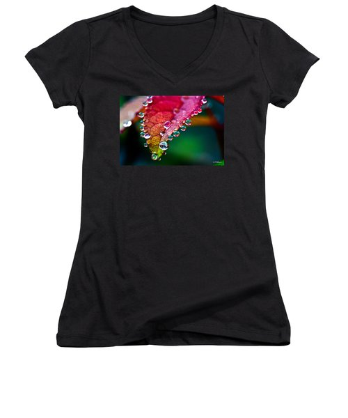 Liquid Beads Women's V-Neck