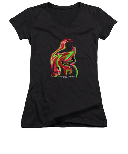 Liquid Iceplant Transparency Women's V-Neck T-Shirt