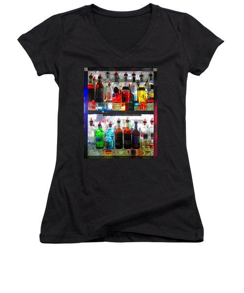 Liquor Cabinet Women's V-Neck T-Shirt