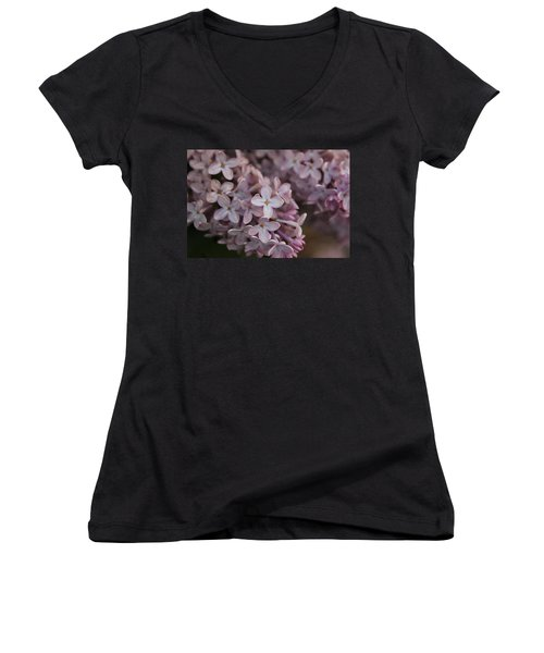 Women's V-Neck T-Shirt (Junior Cut) featuring the photograph Little Pink Stars by Christin Brodie