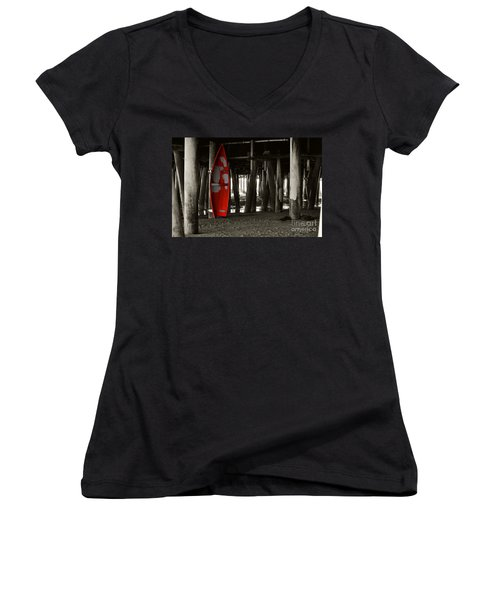 Little Red Boat IIi Women's V-Neck