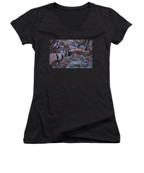 Live Rattles Women's V-Neck T-Shirt