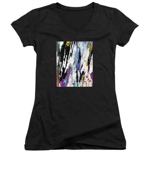 Livin' On The Edge Women's V-Neck T-Shirt