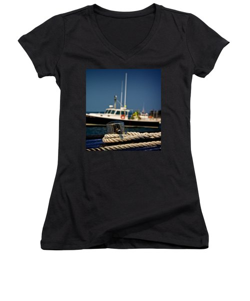 Lobster Boat I Women's V-Neck T-Shirt