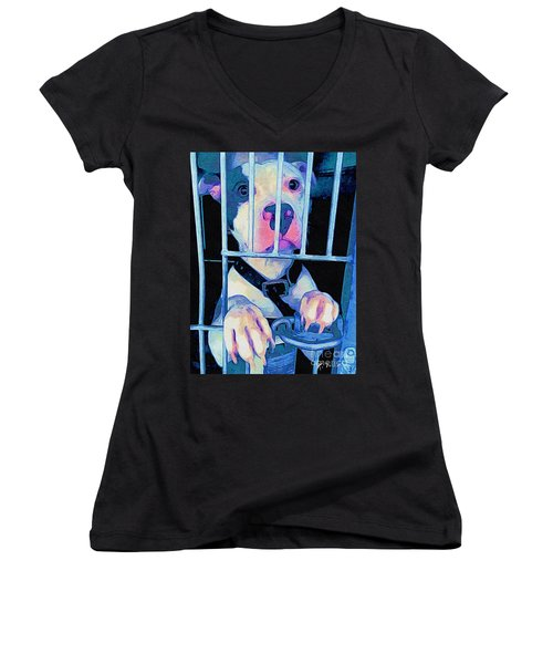 Locked Up Women's V-Neck (Athletic Fit)