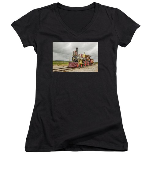Locomotive No. 119 Women's V-Neck (Athletic Fit)