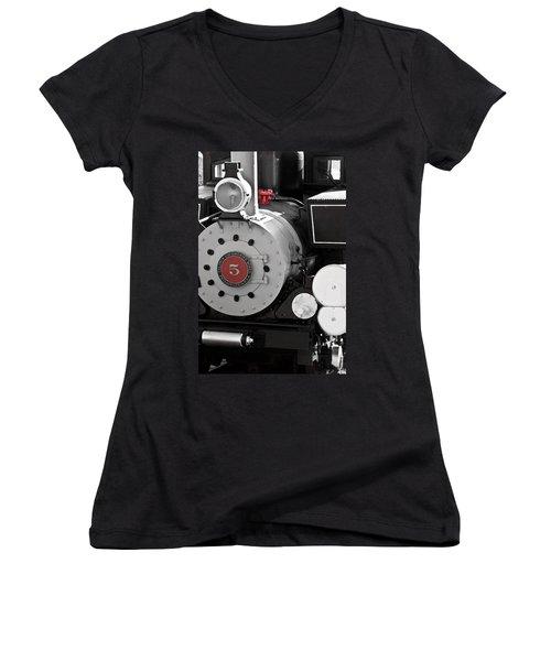 Locomotive Number Five Women's V-Neck (Athletic Fit)