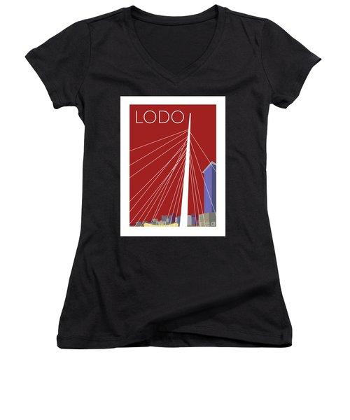Lodo/maroon Women's V-Neck