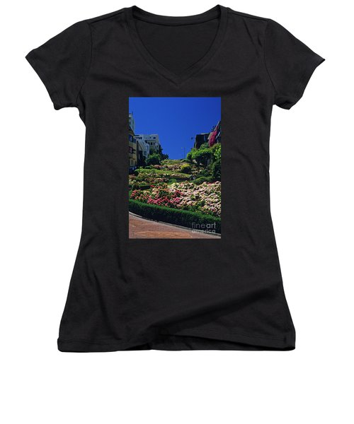 Lombard Street  Women's V-Neck (Athletic Fit)