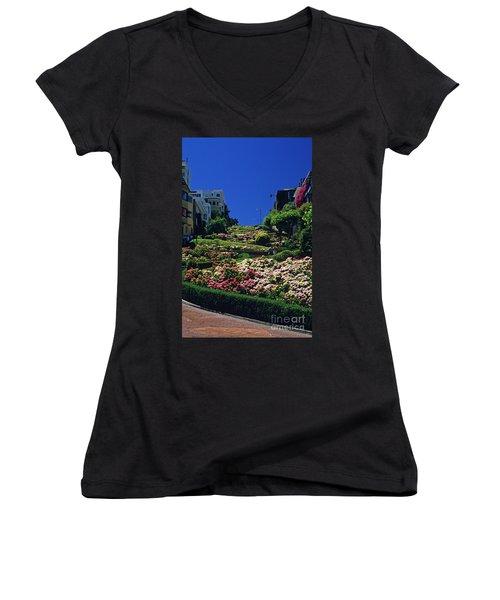 Lombard Street  Women's V-Neck T-Shirt