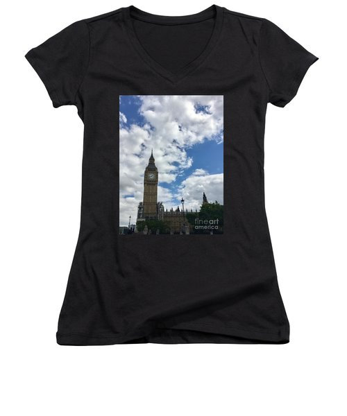 London England  Big Ben Women's V-Neck