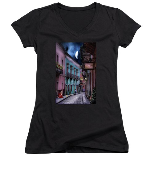 Lonely Street Women's V-Neck (Athletic Fit)
