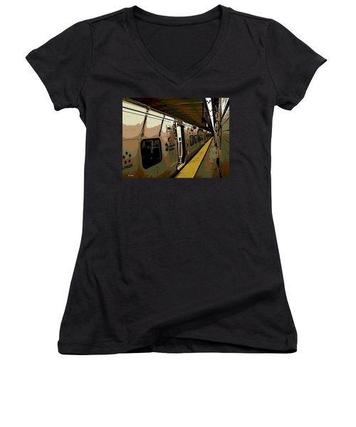 Long Island Railroad Women's V-Neck T-Shirt