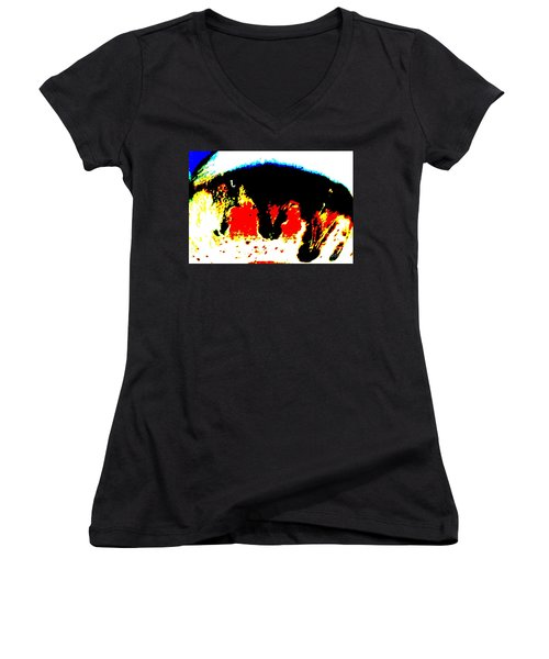 Look At Me Women's V-Neck T-Shirt (Junior Cut) by Tim Townsend