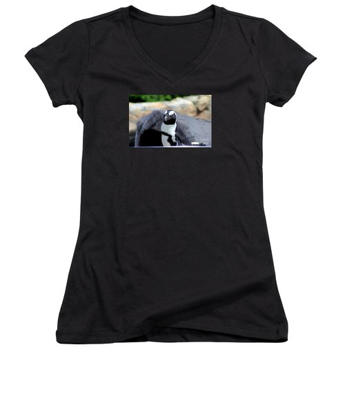 Look At The Humans Women's V-Neck T-Shirt