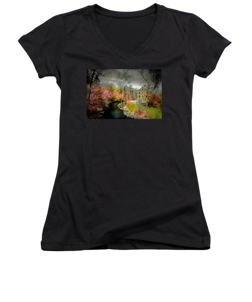 Lorilard Mill Women's V-Neck T-Shirt