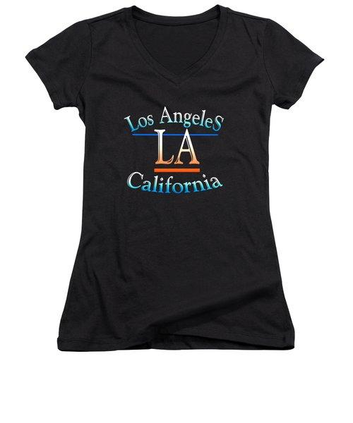 Los Angeles California Design Women's V-Neck