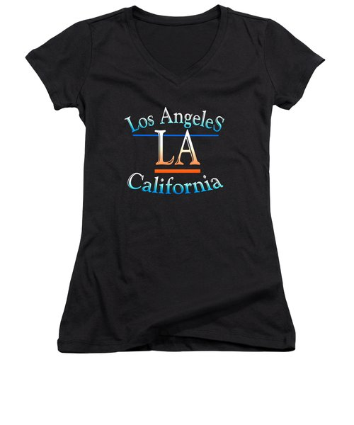 Los Angeles California Design Women's V-Neck (Athletic Fit)