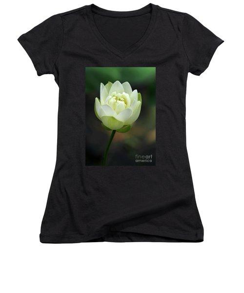 Lotus Blooming Women's V-Neck