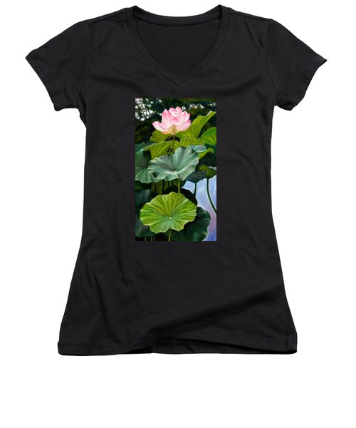 Lotus Rising Women's V-Neck T-Shirt