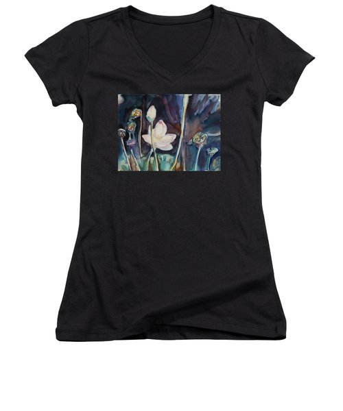 Lotus Study II Women's V-Neck