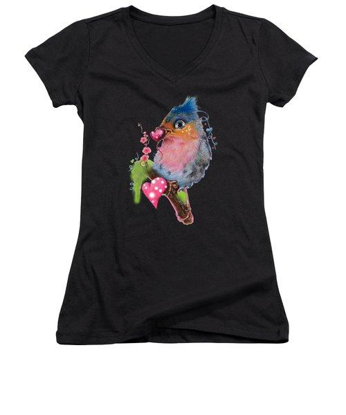 Love Bird Women's V-Neck T-Shirt