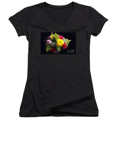 Love Bouquet Women's V-Neck (Athletic Fit)