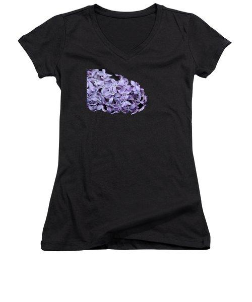 Love In Lilac Women's V-Neck T-Shirt (Junior Cut) by Debbie Oppermann