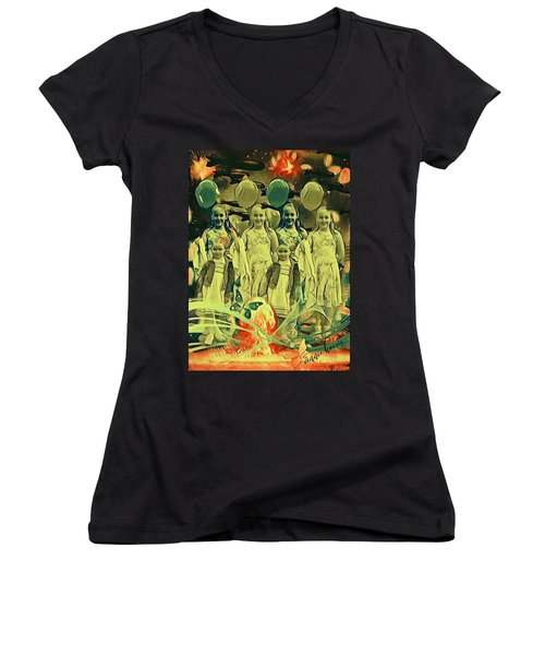 Love In The Age Of War Women's V-Neck
