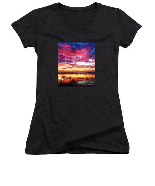 Love Is Real Women's V-Neck T-Shirt (Junior Cut) by LeeAnn Kendall