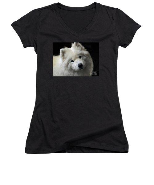 Women's V-Neck T-Shirt (Junior Cut) featuring the photograph Love by Lois Bryan