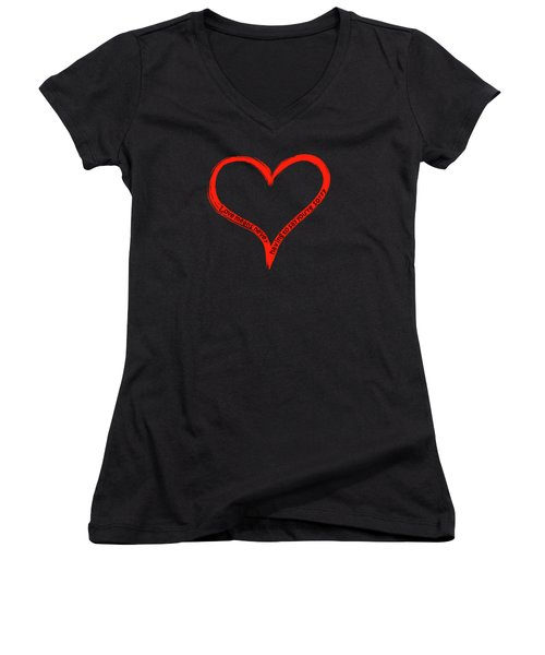 Love Means Never Having To Say Youre Sorry Women's V-Neck (Athletic Fit)