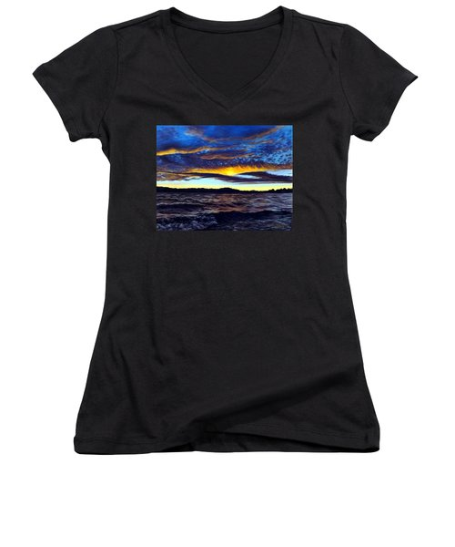 Lucerne Sunset Women's V-Neck