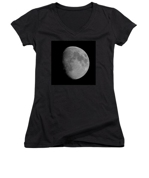 Lunarcy Over Cape Cod Canal Women's V-Neck T-Shirt