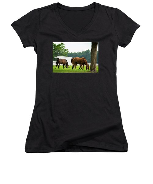 Lunch Time  Women's V-Neck T-Shirt
