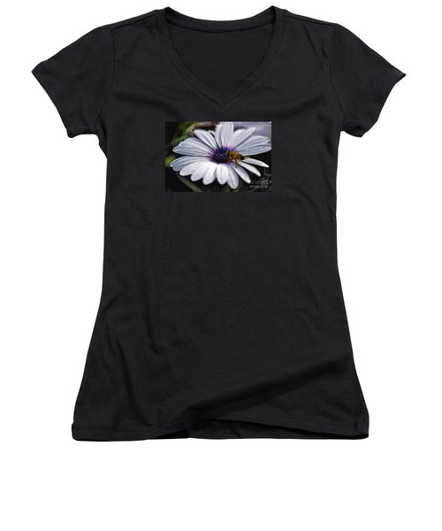 Women's V-Neck T-Shirt (Junior Cut) featuring the photograph Lunchtime  by Juls Adams