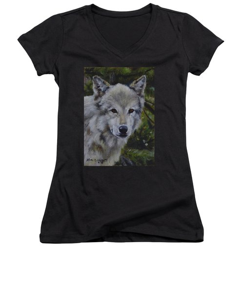 Lupine Gaze Women's V-Neck T-Shirt