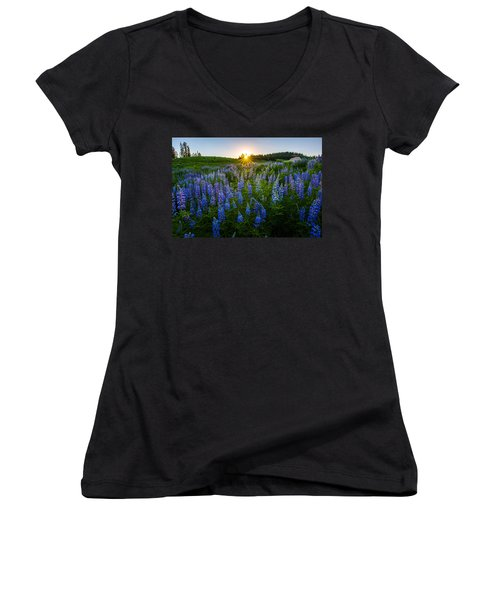 Lupine Meadow Women's V-Neck