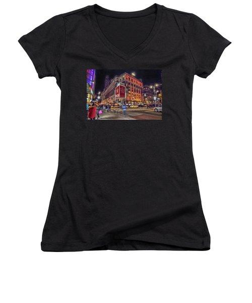 Macy's Of New York Women's V-Neck T-Shirt (Junior Cut) by Dyle Warren