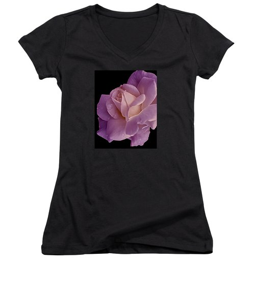 Magenta Queen 8  Women's V-Neck T-Shirt (Junior Cut) by Lynda Lehmann