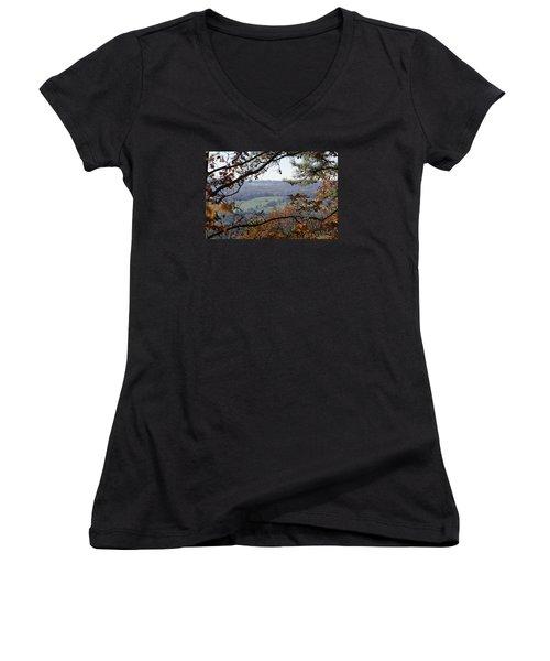 Women's V-Neck T-Shirt (Junior Cut) featuring the photograph Magic Window by Heidi Poulin