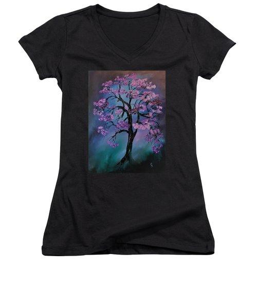 Magical Tree                  66 Women's V-Neck